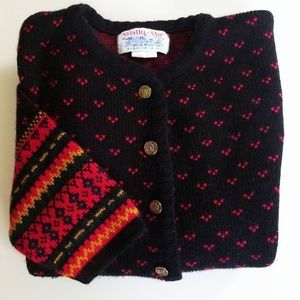 Vintage Tally Ho Button Front Cardigan Size M